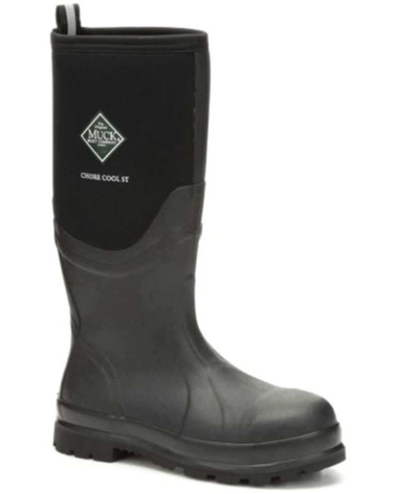 Muck Boots Men's Chore Cool Rubber Work Boots - Steel Toe, Black, hi-res