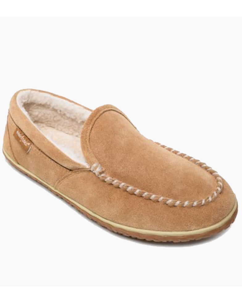 Minnetonka Men's Tilden Slippers - Moc Toe, Red, hi-res