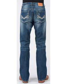 Stetson Men's 1014 Rocks Fit Bootcut Jeans, Blue, hi-res