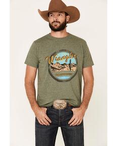 Wrangler Men's Sage Heather Desert Rope Circle Graphic T-Shirt , Green, hi-res