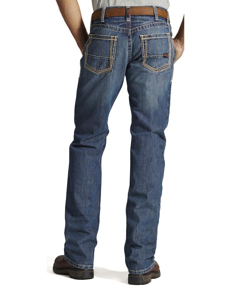 Ariat Men's Flame Resistant M4 Clay Low-Rise Bootcut Work Jeans, Denim, hi-res