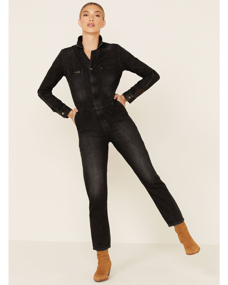 Lee Women's Vintage Modern Union Alls, Black, hi-res