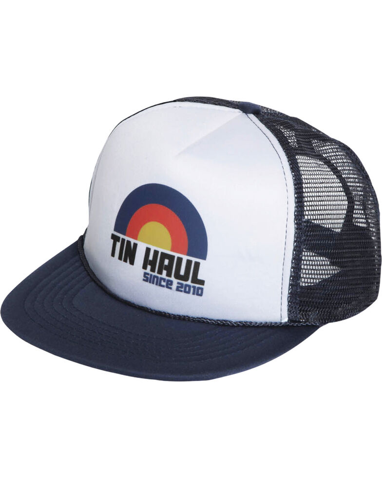Tin Haul Men's Navy Rainbow Flag Trucker Cap , Navy, hi-res