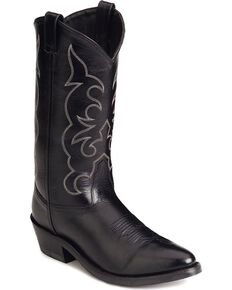 Old West Trucker Western Work Boots - Soft Toe, Black, hi-res