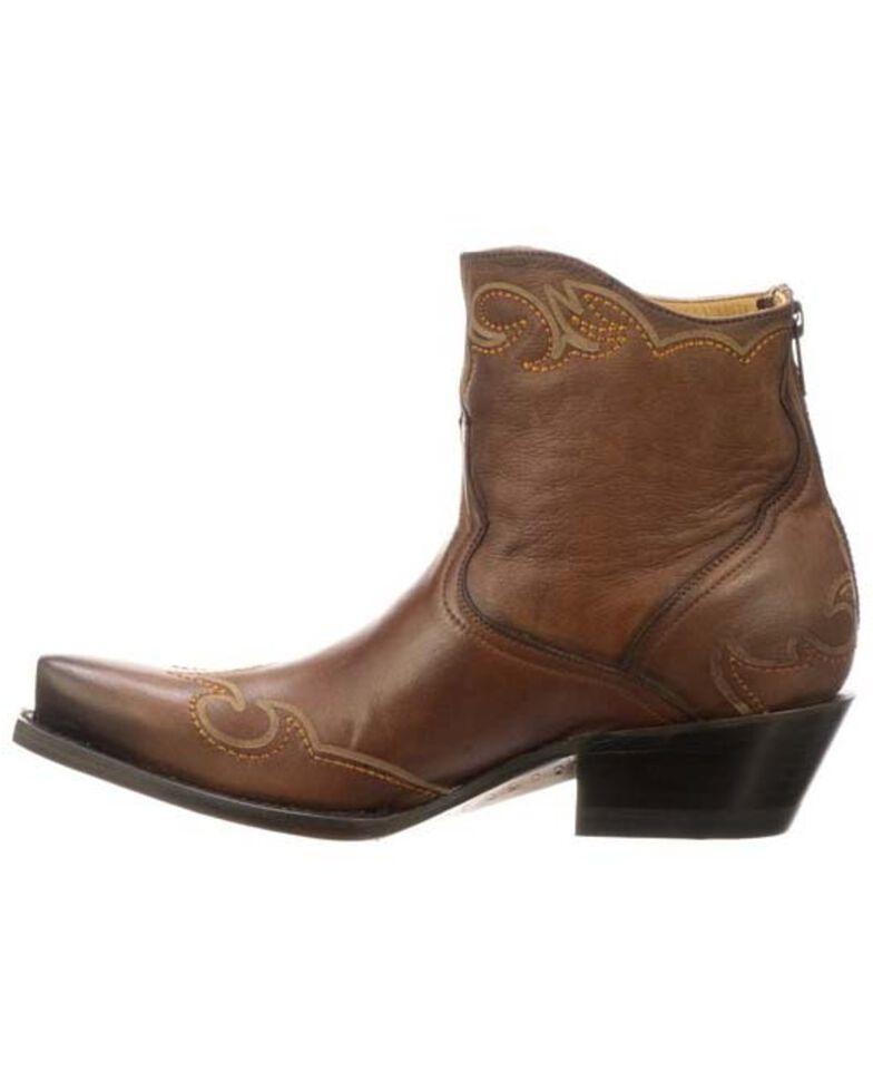 Lucchese Women's Ilibert Western Booties - Snip Toe, Brown, hi-res