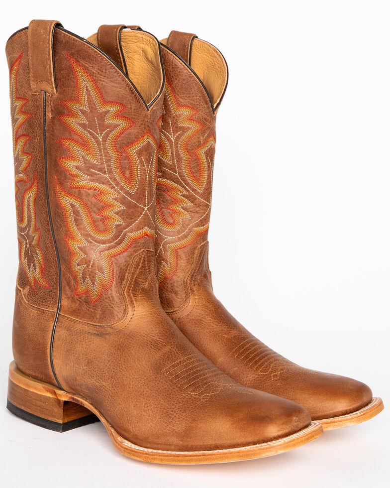 Cody James Men's Brown Stockman Cowboy Boots - Wide Square Toe, Brown, hi-res