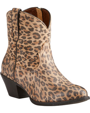 Ariat Women's Leopard Print Darlin Booties - Medium Toe, Leopard, hi-res
