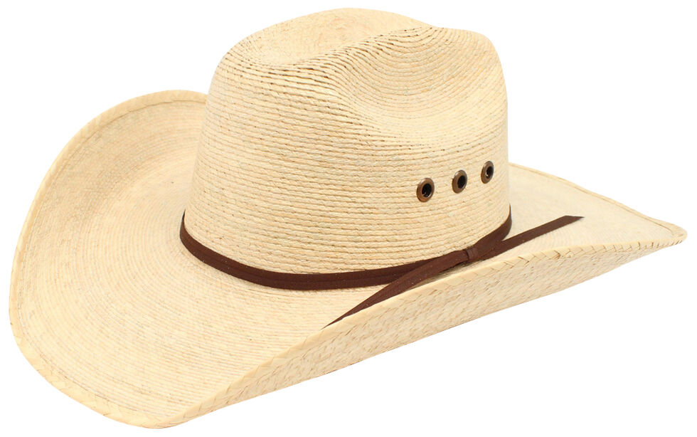 Ariat Natural Palm Tophand Straw Hat, Natural, hi-res