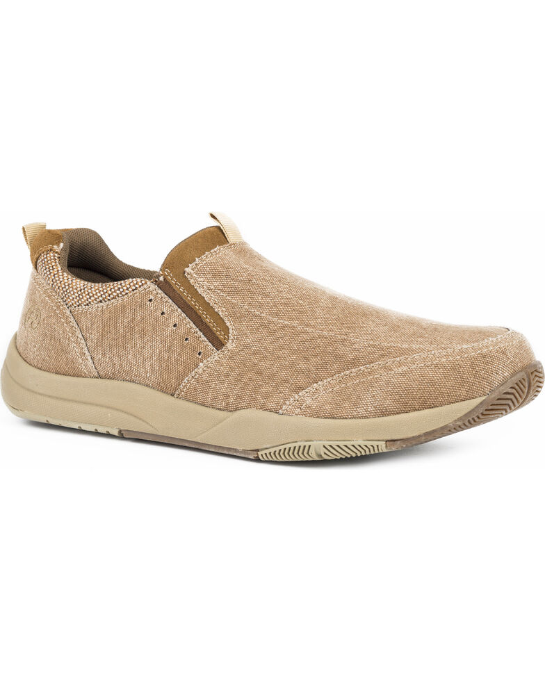 Roper Men's Speed Tan Canvas Swifter Sole Shoes - Round Toe, Tan, hi-res