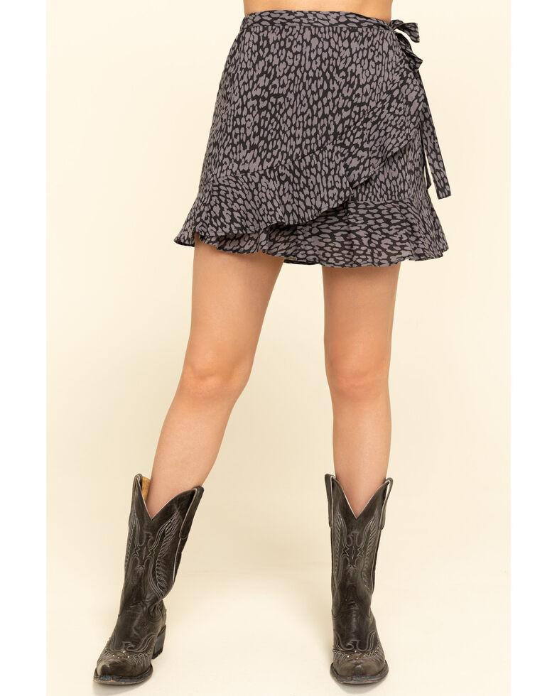 Rock & Roll Denim Women's Animal Print Mini Skirt , Brown, hi-res