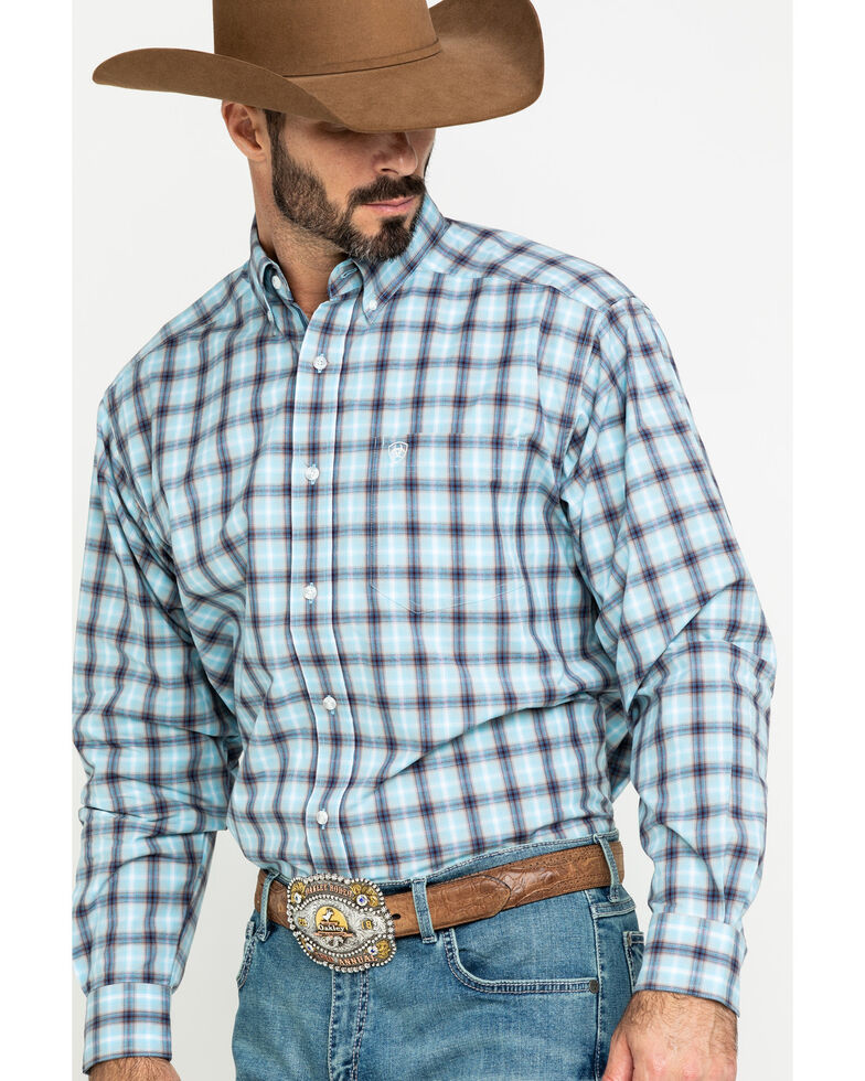 Ariat Men's Lathrop Multi Plaid Long Sleeve Western Shirt , Multi, hi-res