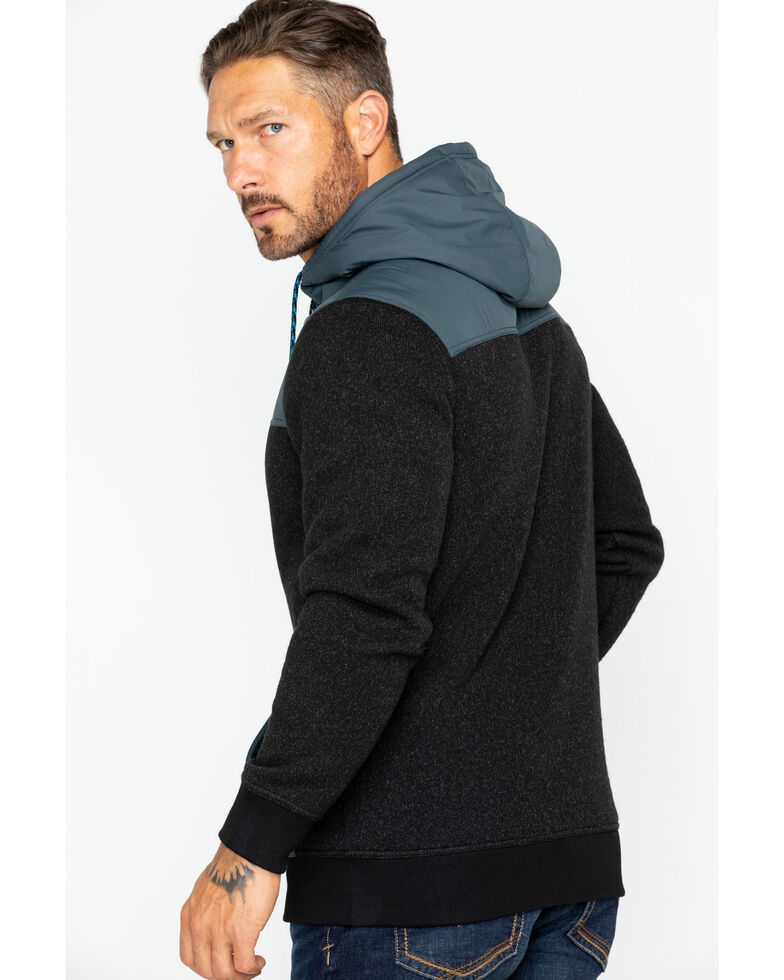 Moonshine Spirit Men's Flask Hooded Sweater Jacket, Black, hi-res