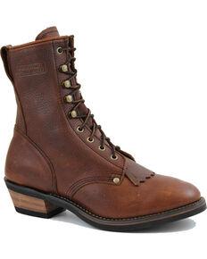 "Ad Tec Men's 9"" Packer Western Work Boots - Soft Toe, Brown, hi-res"