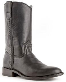 Ferrini Men's Rider Western Boots - Round Toe, Black, hi-res