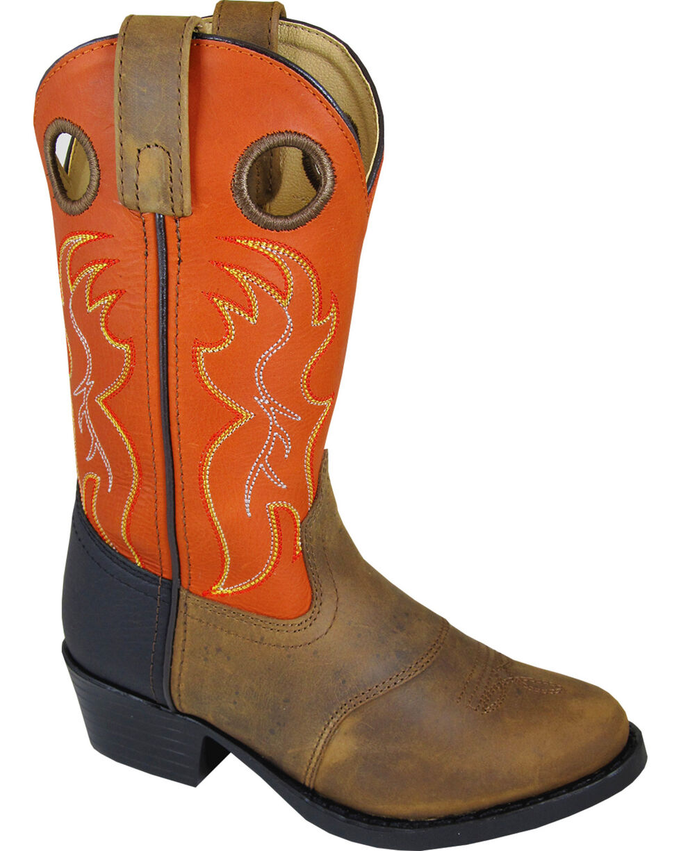 Smoky Mountain Boys' Thomas Western Boots - Round Toe , Brown, hi-res