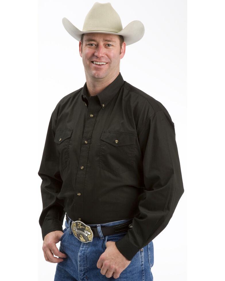 Roper Amarillo Collection Western Shirt, Black, hi-res