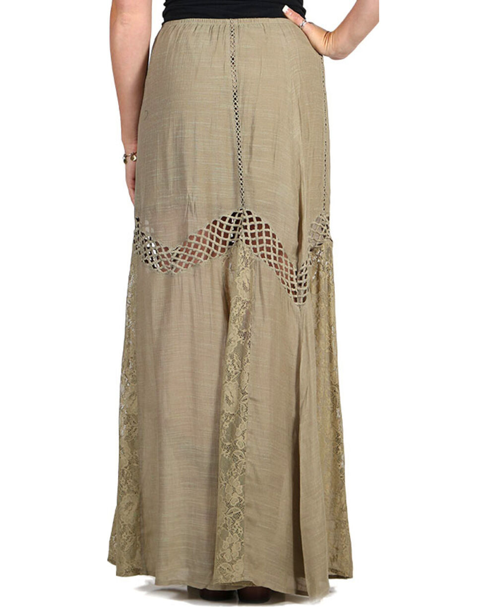 HYFVE Women's Cutout Maxi Skirt, Olive, hi-res
