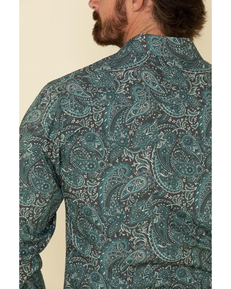 Cinch Men's Modern Fit Charcoal Paisley Print Long Sleeve Western Shirt , Charcoal, hi-res