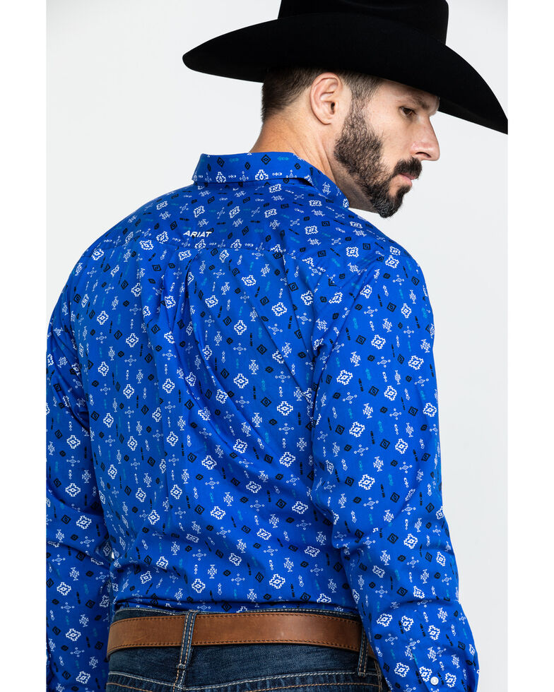 Ariat Men's Barstow Aztec Geo Print Long Sleeve Western Shirt , Multi, hi-res