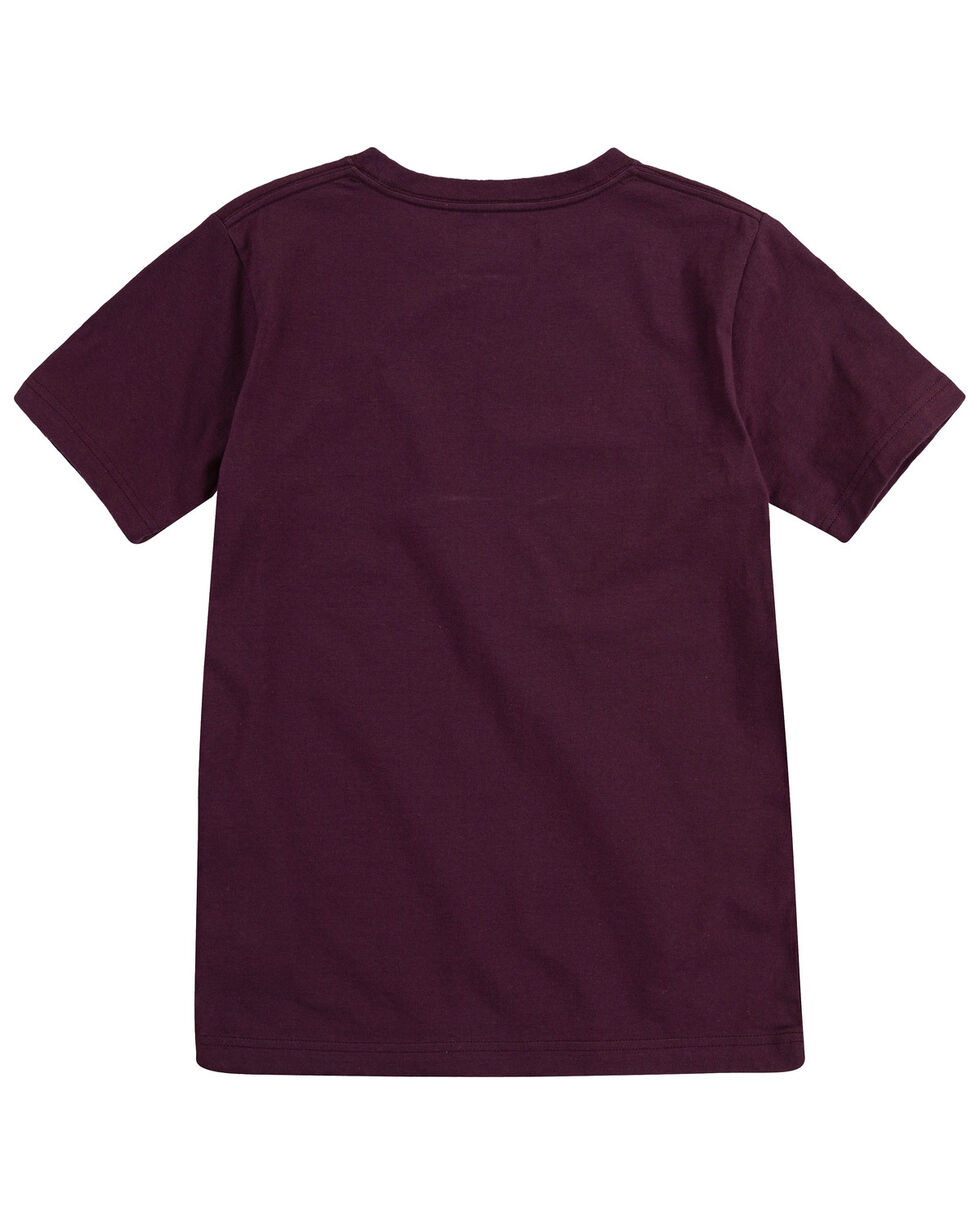 Levi's Boys' Flying Solo Graphic Short Sleeve T-Shirt , Maroon, hi-res