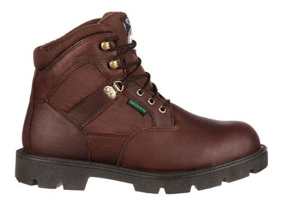 Georgia Homeland Waterproof Work Boots - Steel Toe, Brown, hi-res
