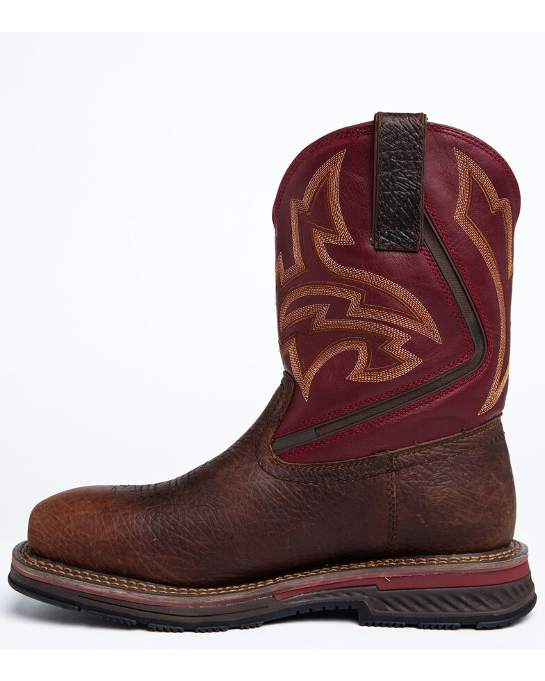 Cody James Men's Waterproof Disruptor Western Work Boots - Composite Toe, Brown, hi-res