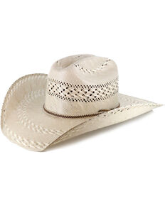 270e5554bf3 Justin Men s Bent Rail Garret Two Tone Straw Cowboy Hat