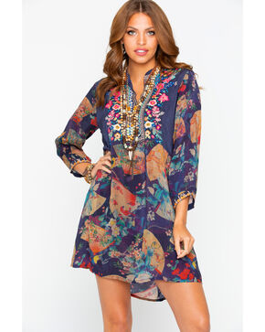 Johnny Was Women's Fusai Floral Tunic Dress, Multi, hi-res