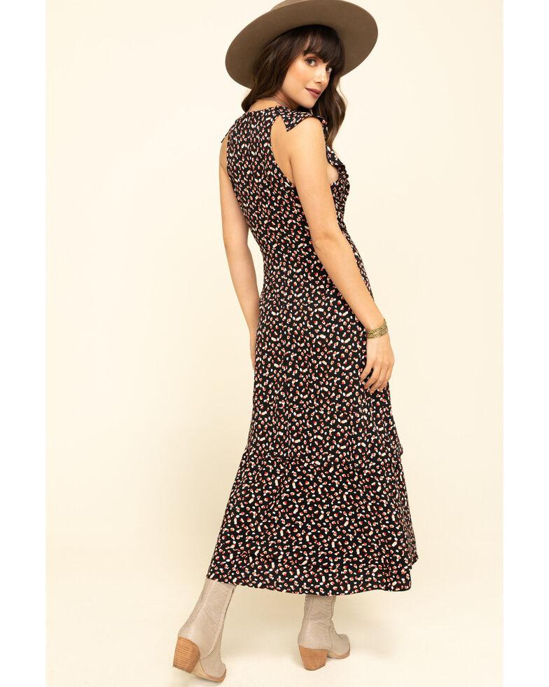 Molly Bracken Women's Black Sweet Heart Ruffle Wrap Dress, Black, hi-res