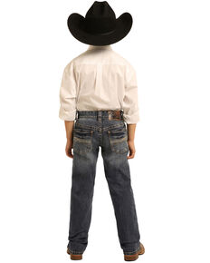 Panhandle Boys' Dark Reflex Revolver Stretch Slim Straight Jeans, Blue, hi-res