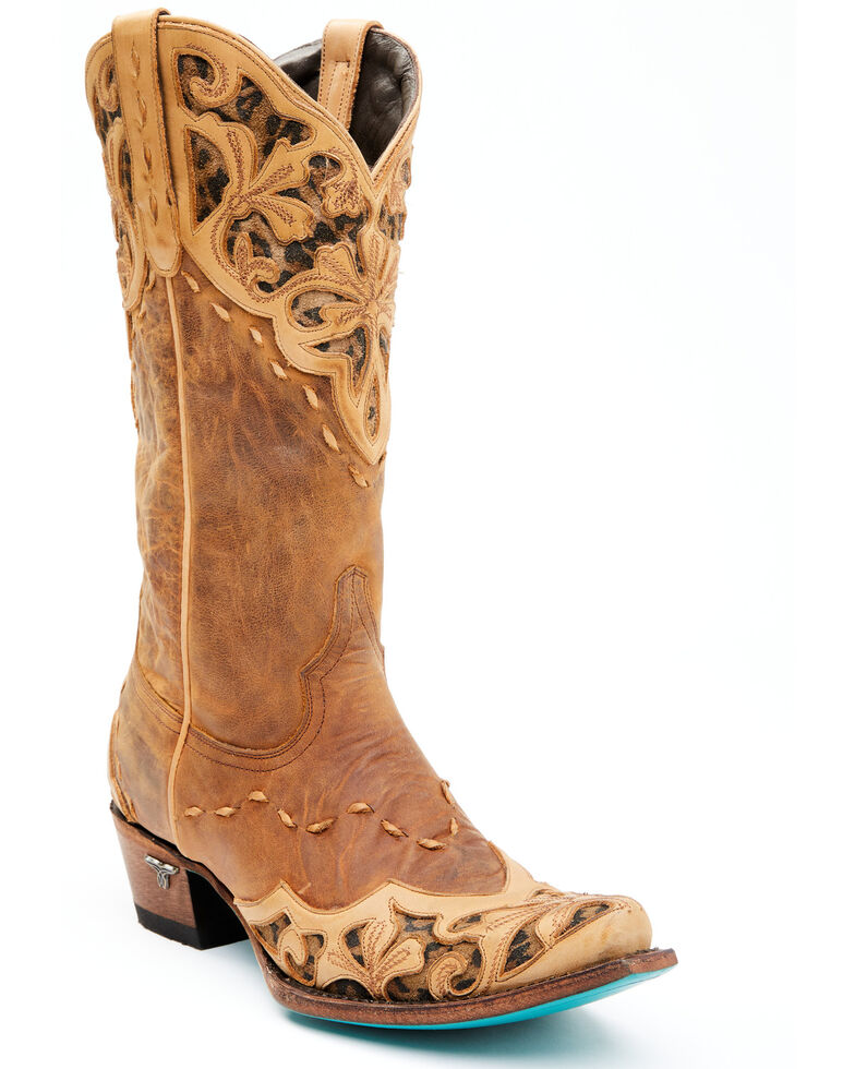 Lane Women's Lilly Western Boots - Snip Toe, Leopard, hi-res