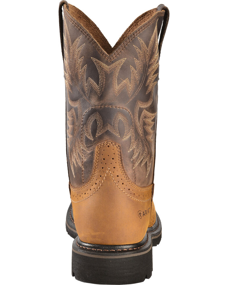 b47c6c2d8a38 Ariat Sierra Pull-On Western Work Boots - Square Toe - Country Outfitter