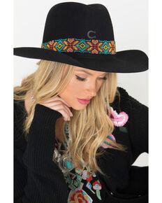 Charlie 1 Horse Women's Gold Digger Concho Western Hat, Black, hi-res