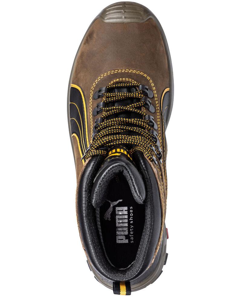Puma Men's Sierra Nevada Waterproof Work Boots - Composite Toe, Brown, hi-res