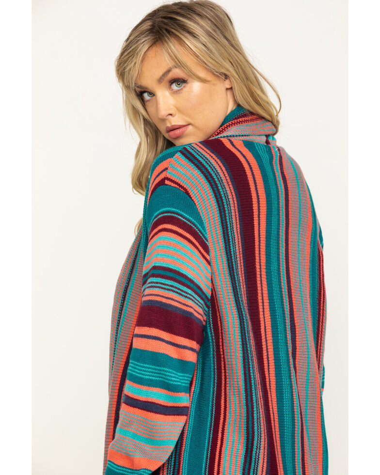 Rock & Roll Cowgirl Women's Serape Cardigan , Multi, hi-res
