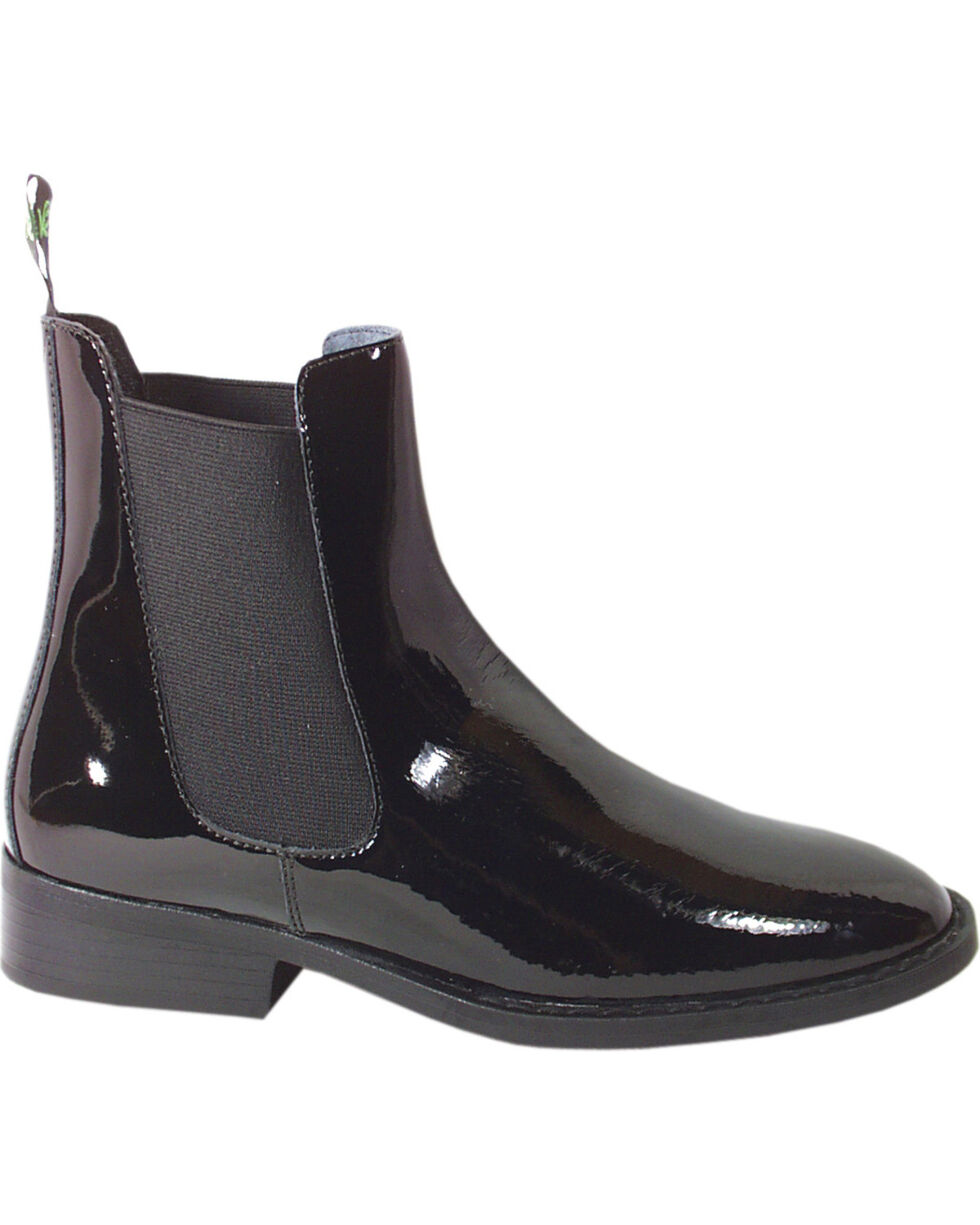 Smoky Mountain Women's Jodhpur Patent Leather Paddock Boots, Black, hi-res