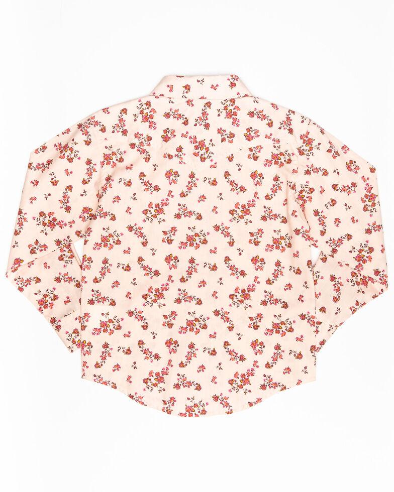 Shyanne Toddler Girls' Floral Print Long Sleeve Western Shirt, Pink, hi-res
