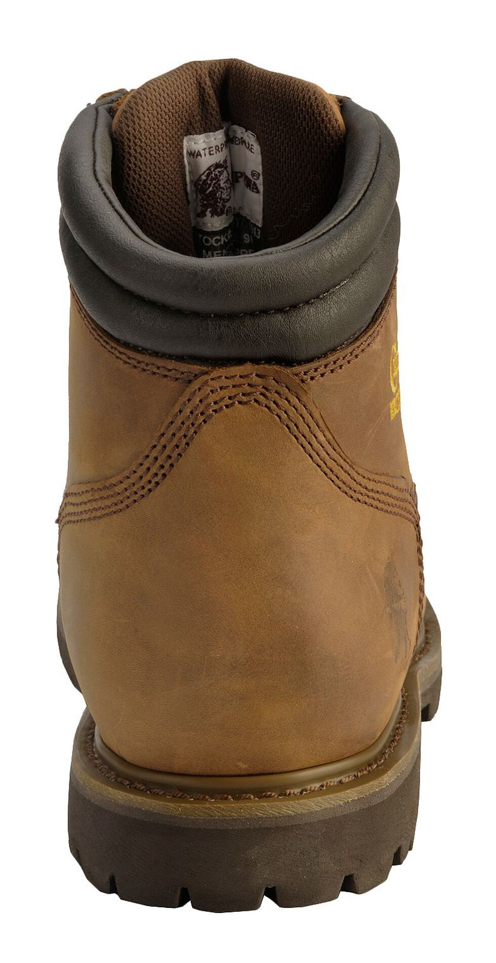 "Chippewa IQ Insulated & Waterproof 6"" Lace-Up Work Boots - Round Toe, Bark, hi-res"