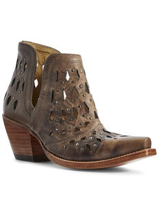 Ariat Women's Dixon Studded Fashion Booties - Snip Toe, Brown, hi-res