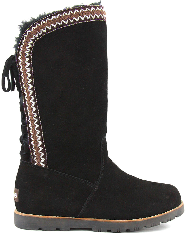 Lamo Footwear Women's Madelyn Suede Winter Boots - Round Toe, Black, hi-res
