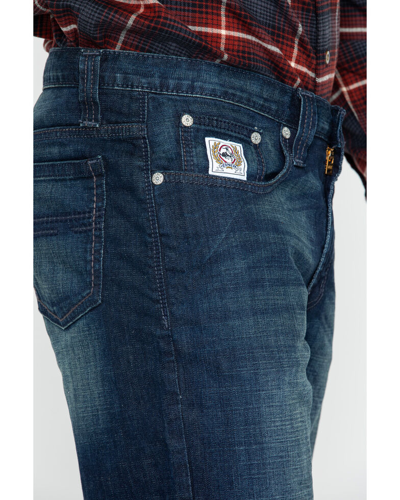Cinch Men's White Label Mid Rise Performance Denim - Straight Leg, Indigo, hi-res