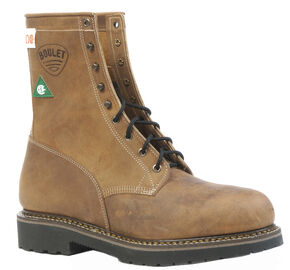 Boulet Hillbilly Golden Lace-Up Work Boots - Steel Toe, Tan, hi-res
