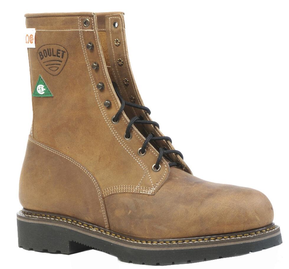 Boulet Hillbilly Golden Lace-Up Work Boots - Steel Toe, Tan, hi-res