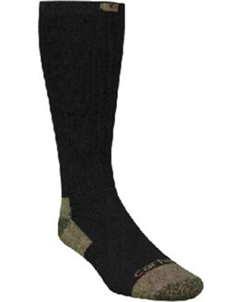 Carhartt Black Full Cushion Steel-Toe Cotton Work Boot Socks - 2 Pack, Black, hi-res