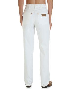 Wrangler Women's Cowboy Cut White Slim Fit Jeans  , White, hi-res