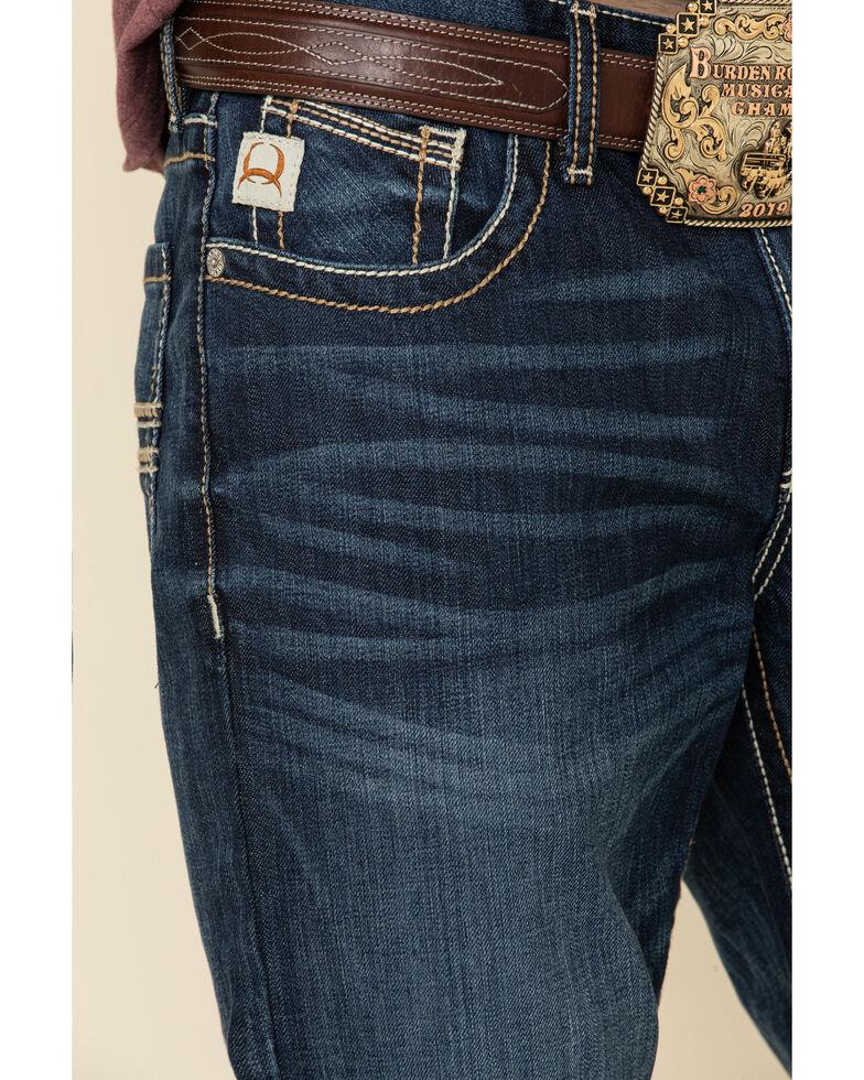 Cinch Men's Ian Performance Denim Dark Stone Stretch Slim Bootcut Jeans , Indigo, hi-res