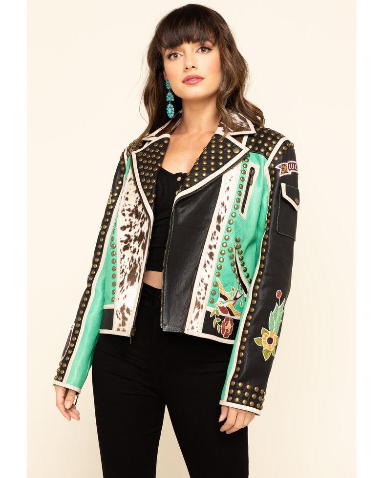 Double D Ranch Women's Midnight Cowboy Jacket, Multi, hi-res