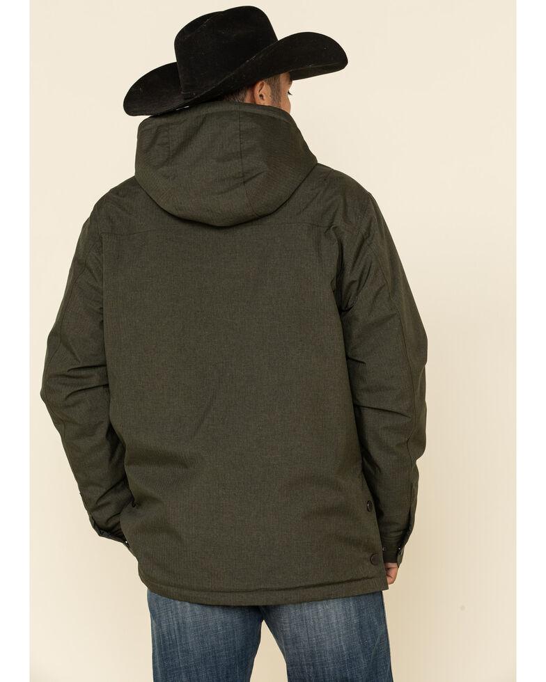 Cinch Men's Olive Herringbone Sherpa Lined Barn Coat , Olive, hi-res