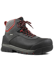 Bogs Men's Bedrock Lace-Up Work Boots - Composite Toe, Black, hi-res