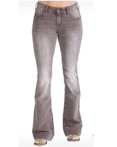 Cowgirl Tuff Women's Dusty Road Trouser , Brown, hi-res